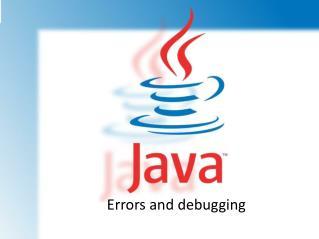 Errors and debugging