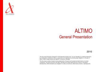 ALTIMO  General Presentation