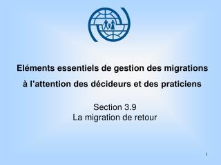 Eléments essentiels de gestion des migrations à l'attention des décideurs et des praticiens