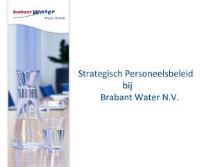 Strategisch Personeelsbeleid bij  Brabant Water N.V.