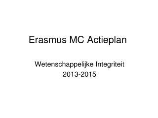Erasmus MC Actieplan