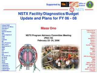 NSTX Facility/Diagnostics/Budget  Update and Plans for FY 06 - 08