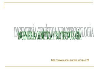 INGENIERÍA GENÉTICA Y BIOTECNOLOGÍA