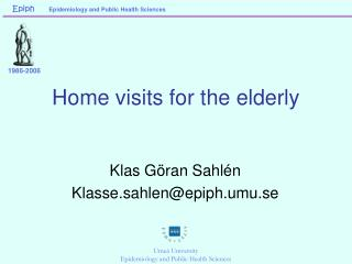 Home visits for the elderly