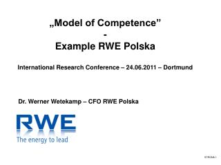 """Model of Competence"" - Example RWE Polska"