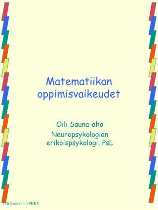 Matematiikan oppimisvaikeudet