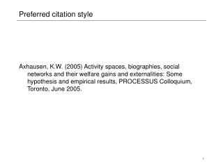 Preferred citation style