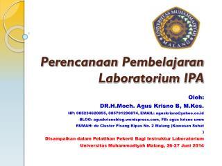 Perencanaan Pembelajaran Laboratorium  IPA