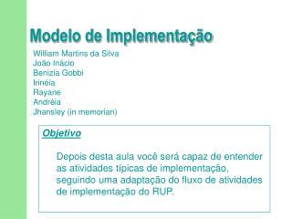 Modelo de Implementação
