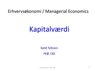 Kapitalværdi Kjeld  Tyllesen PEØ, CBS