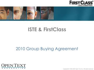 ISTE & FirstClass