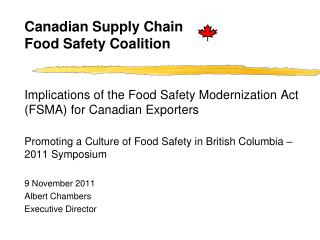 Canadian Supply Chain Food Safety Coalition