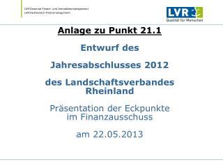 1. NKFWG im Jahresabschluss zum 31.12.2012