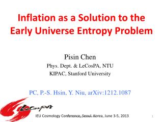 Inflation as a Solution to the Early Universe Entropy Problem