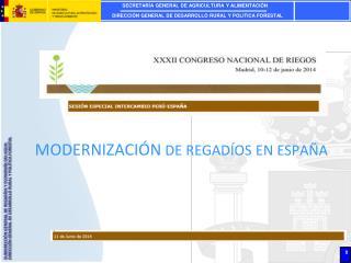 MODERNIZACIÓN  DE REGADÍOS EN ESPAÑA
