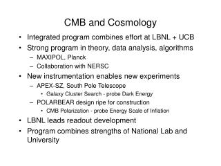 CMB and Cosmology