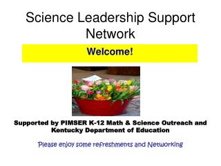 Science Leadership Support Network