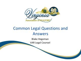 Common Legal Questions and Answers