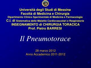 Università degli Studi di Messina Facoltà di Medicina e Chirurgia