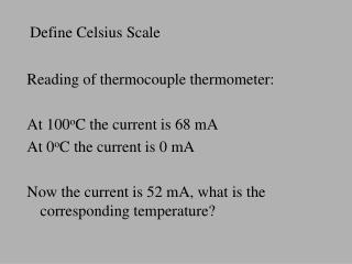 Define Celsius Scale
