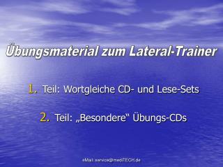 Teil: Wortgleiche CD- und Lese-Sets  Teil:  Besondere   bungs-CDs