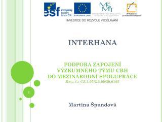 OP Vzdělávání pro konkurenceschopnost Lidské zdroje ve výzkumu a vývoji