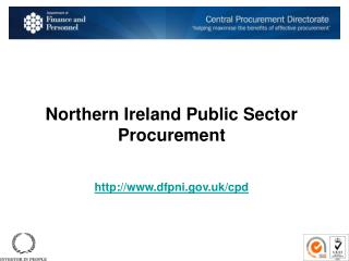 Northern Ireland Public Sector  Procurement dfpni.uk/cpd