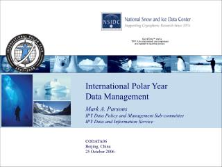 International Polar Year Data Management