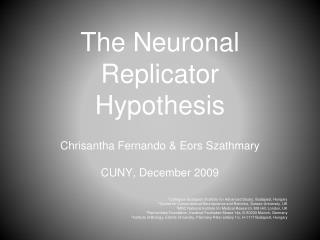 The Neuronal Replicator Hypothesis