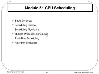 Module 5:  CPU Scheduling
