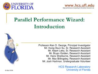 Parallel Performance Wizard: Introduction