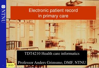 Electronic patient record  in primary care