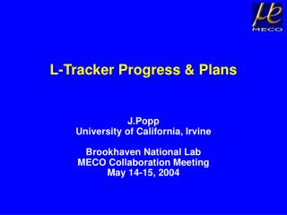 L-Tracker Progress & Plans