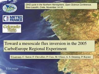 Toward a mesoscale flux inversion in the 2005 CarboEurope Regional Experiment