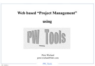 "Web based ""Project Management"" using"