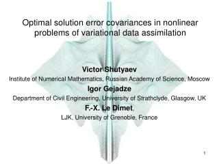 Optimal solution error covariances in nonlinear problems of variational data assimilation