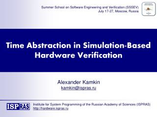 Time Abstraction in Simulation-Based Hardware Verification