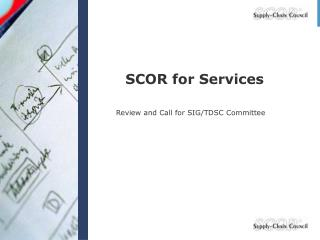 SCOR for Services