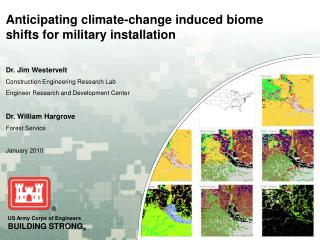 Anticipating climate-change induced biome shifts for military installation