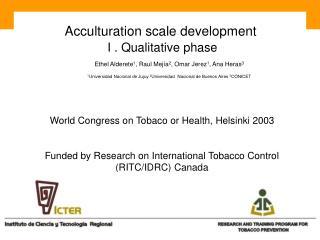 Acculturation scale development  I . Qualitative phase