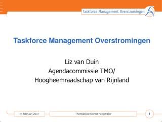 Taskforce Management Overstromingen