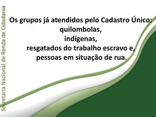 Secretaria Nacional de Renda de Cidadania