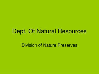 Dept. Of Natural Resources