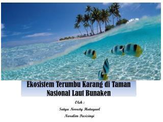 Ekosistem Terumbu Karang di  Taman  Nasional Laut Bunaken