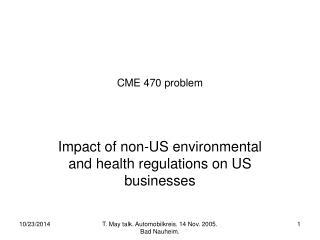 CME 470 problem