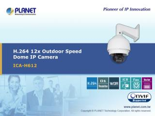 H.264 12x Outdoor Speed Dome IP Camera
