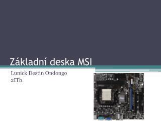 Základní deska MSI