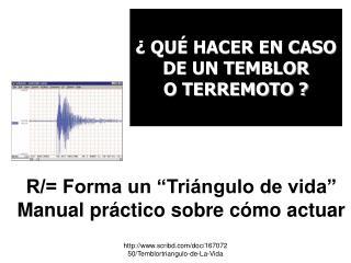 """R/= Forma un """"Triángulo de vida"""" Manual práctico sobre cómo actuar"""