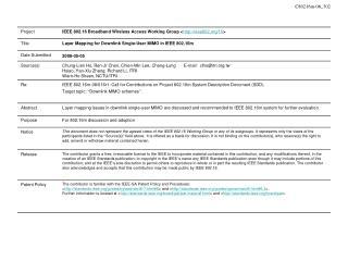 Proposed Transmission Framework