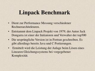 Linpack Benchmark